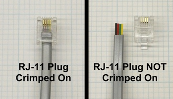 RJ-11 plug crimp options